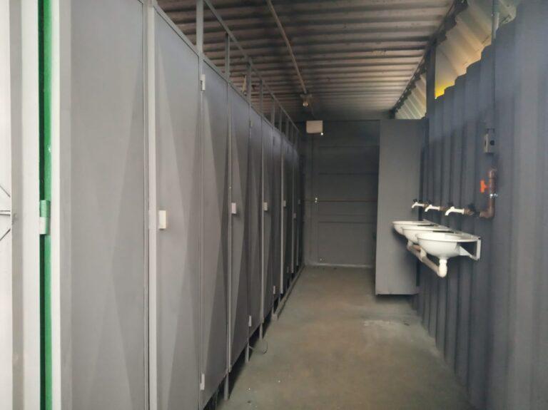 Locação container banheiro